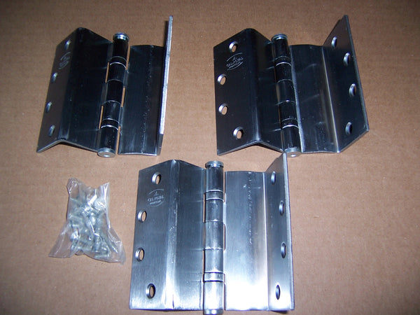 "Swing Clear Hinges- 4 1/2"" - Satin Chrome- Set includes three (3 ) Hinges"