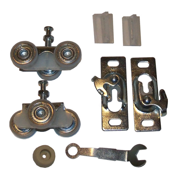 HBP 3- Wheel Ball Bearing Hangers-  For Pocket Door Track and Hardware Kit-  HARDWARE BAG ONLY