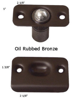 Ball Catches- Adjustable Height and  Spring Tension- Solid Brass