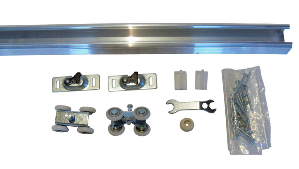 Series 1 HBP- Heavy Duty Pocket Door Track and Hardware - 4- Wheel Ball Bearing Hanger