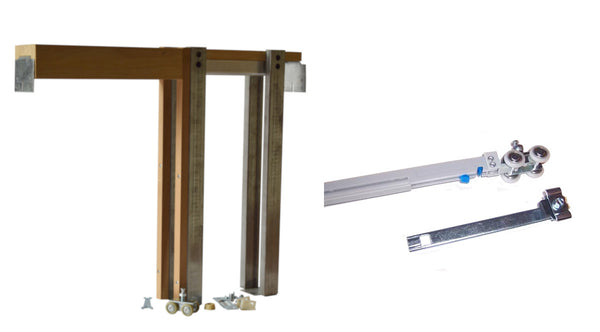 2450 Series-Single Pocket Door Frame Kit with Soft Open