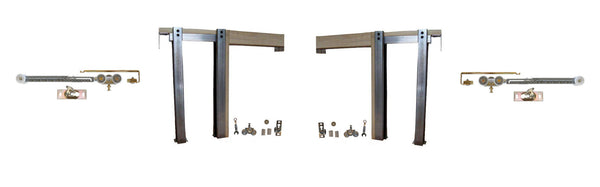 2450 Series -Double  Pocket Door Frame Kit with SOFT CLOSE