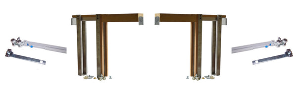 2650 Series - Double- Pocket Door Frame Kit with Soft Opens