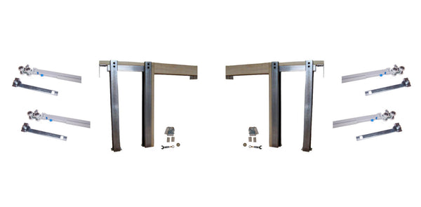 2450 Series Double Pocket Door Frame Kit with SOFT CLOSE &  SOFT OPEN