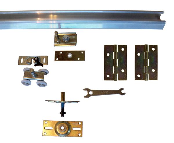 Series 1 HBP Bifold Track and Hardware Kits- 4- Wheel Roller