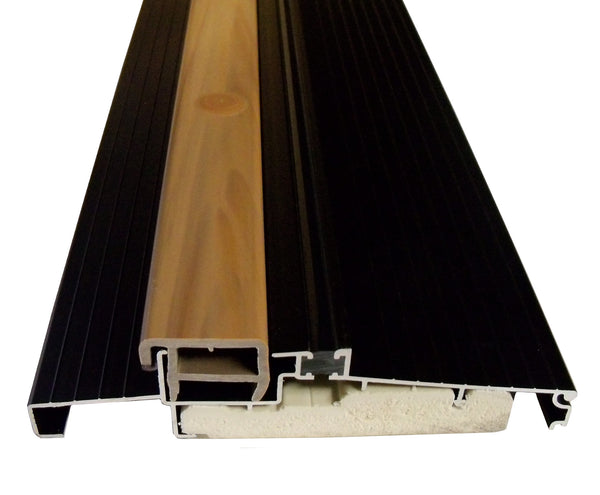 "OUTSWING Threshold 5 5/8"" with Composite Cap and Composite Base- Dark Bronze"