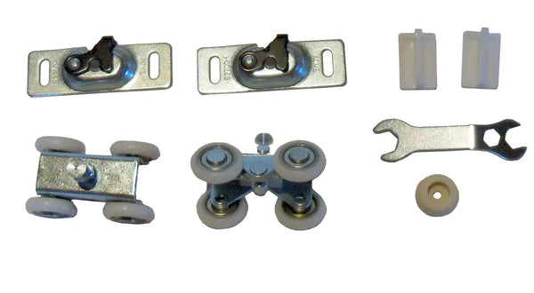 Series 1 - HBP  4- Wheel Ball Bearing Hangers- For Pocket Door Track and Hardware - HARDWARE BAG ONLY