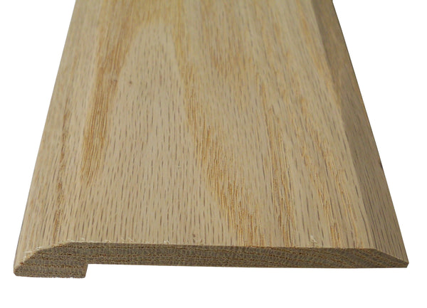 "Style 4- Red Oak  Solid Hardwood Interior Threshold HBP- 4"" Width"