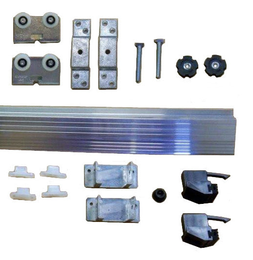 Type C Crowder Pocket Door Track and Hardware Kits