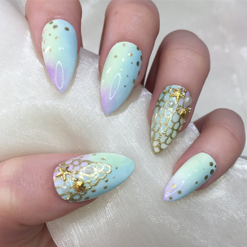 Mermaid Pastel Charm Stilettos