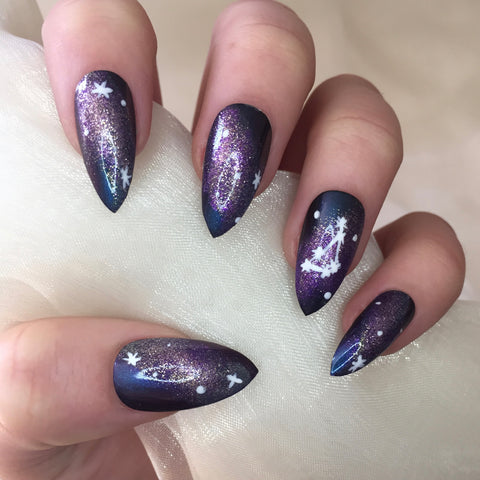 Constellation Star Sign Nails - 2