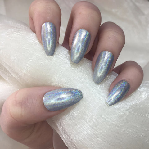 Silver Holographic Long Coffins