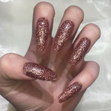 Extra Long Rose Gold Glitter Coffins