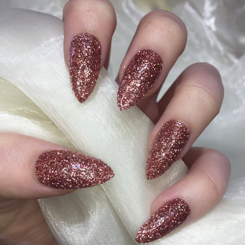 Rose Gold Glitter Stilettos