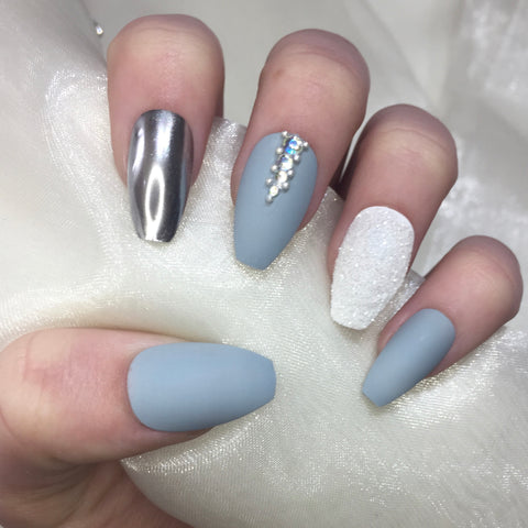 Grey Matte Coffins with Silver Chrome