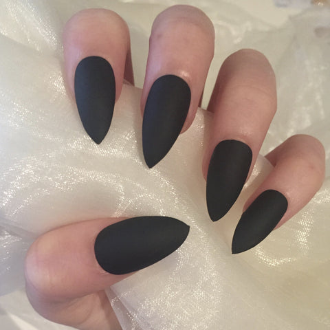 Matte Black Stilettos