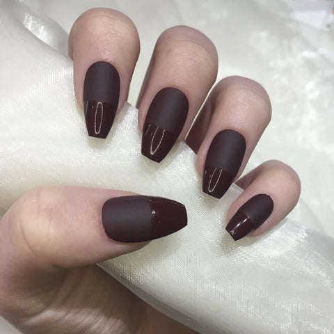 Burgundy Half and Half Coffins