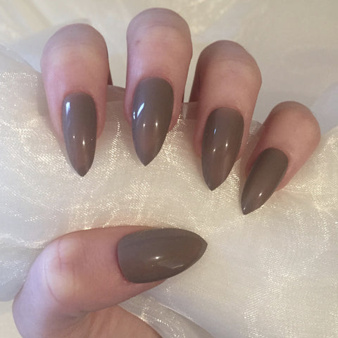 Mocha Gloss Stilettos