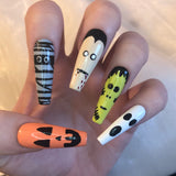 Extra Long Ballerina Halloween Character Nails