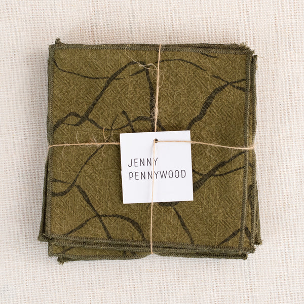 Mini Napkins - Weave in mulch and army