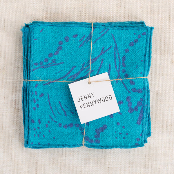 Mini Napkins - Drape in hot pink and turquoise
