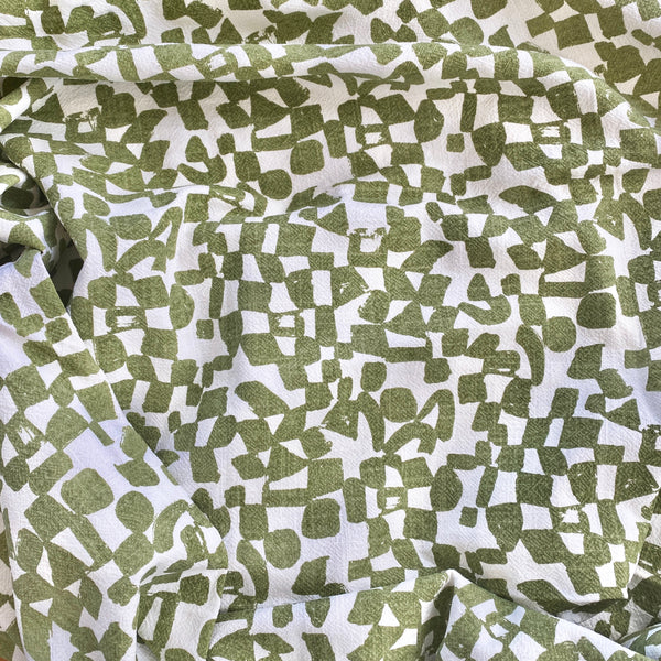 CHECKS in MATCHA - Fabric by the yard