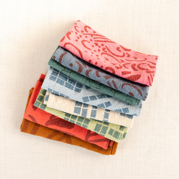 Everyday Napkins - Set of 8 - over-dyed - Sea and Sky set - #4 - limited edition