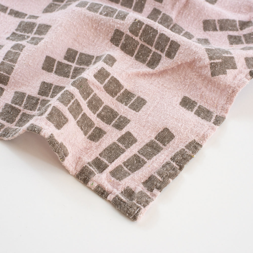 Overdyed Bandana - Tiles in Light Lilac