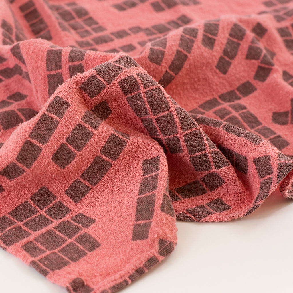 Overdyed Bandana - Tiles in Pink Frosting