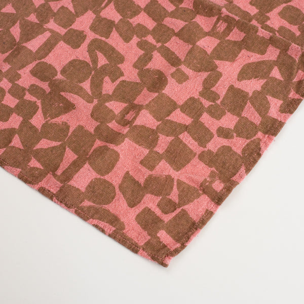 Overdyed Bandana - Checks in Pink Frosting