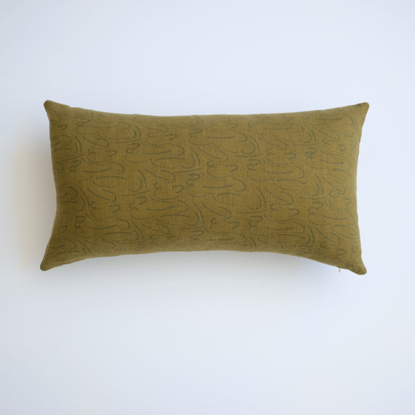 Pillow - Lumbar - Shorthand in Pine over-dyed in Army