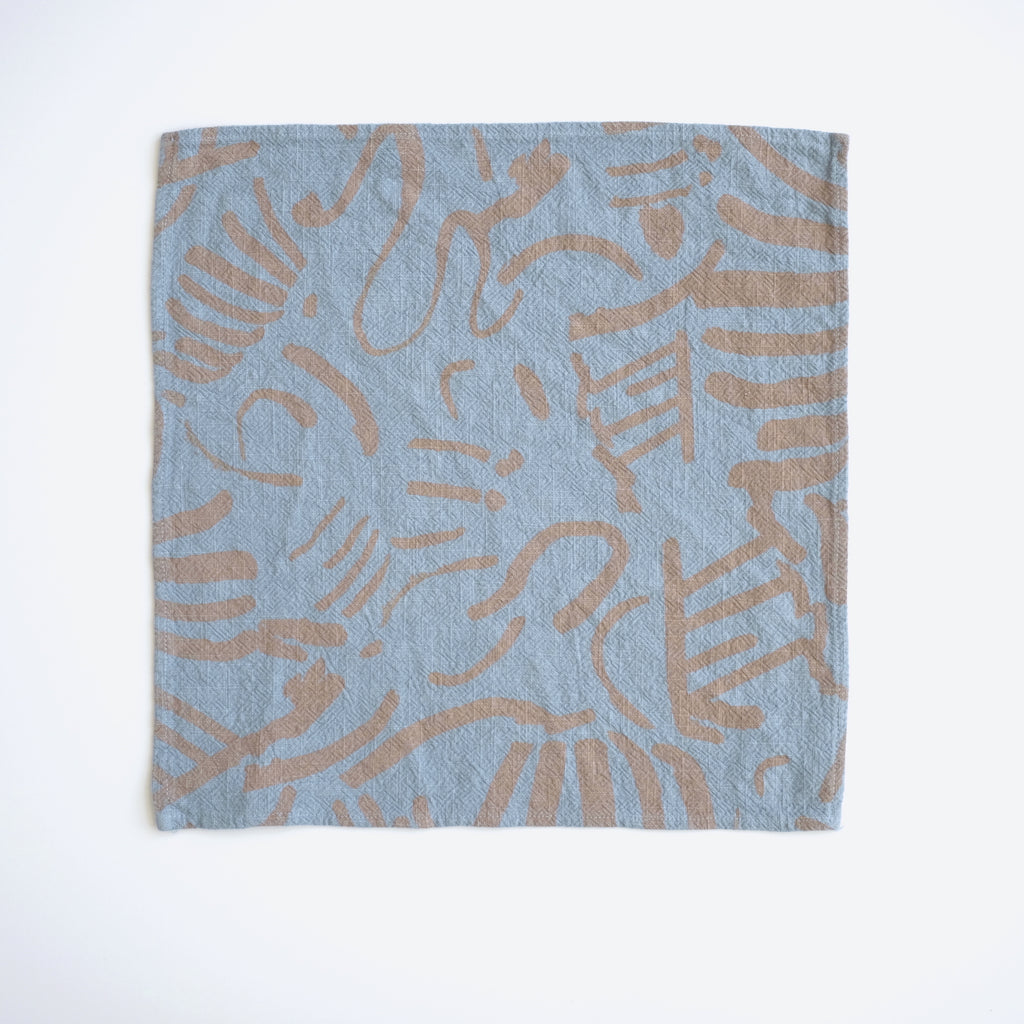 Everyday Napkins - Fold - Clay - Fog Blue