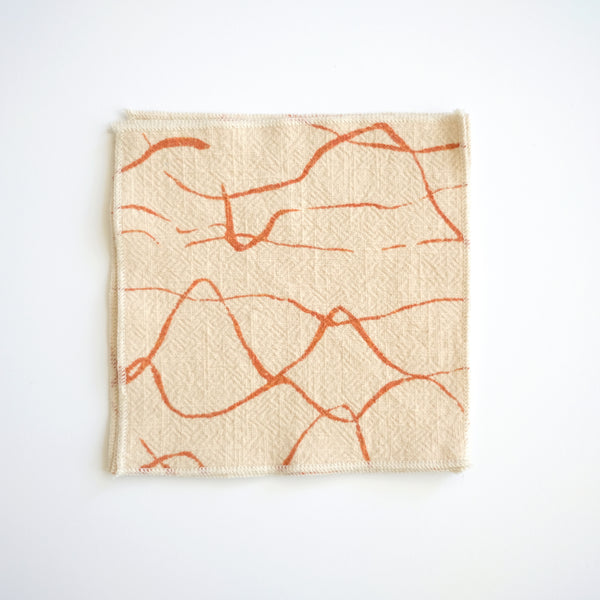 Mini Napkins - Weave in Terra Cotta and Cream