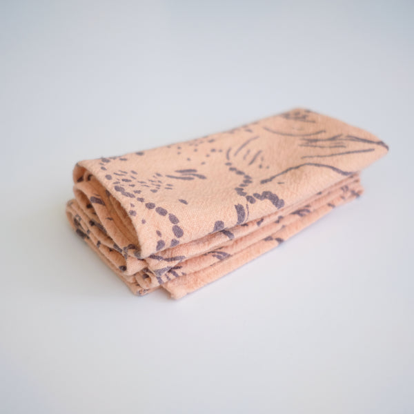 Everyday Napkins - Drape - Fig - Peach