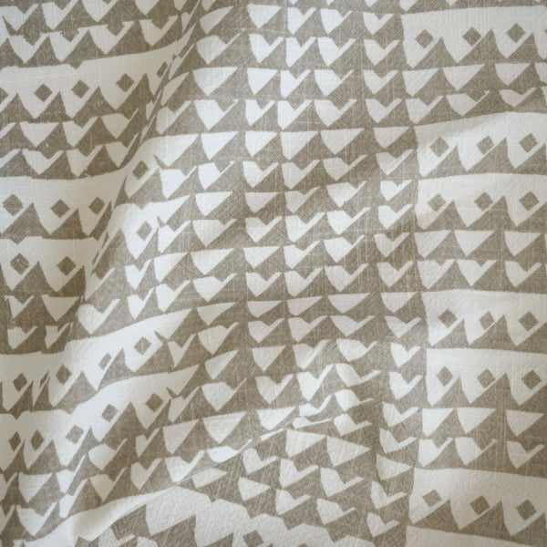 TRIANGLES in FLAX - Fabric by the yard
