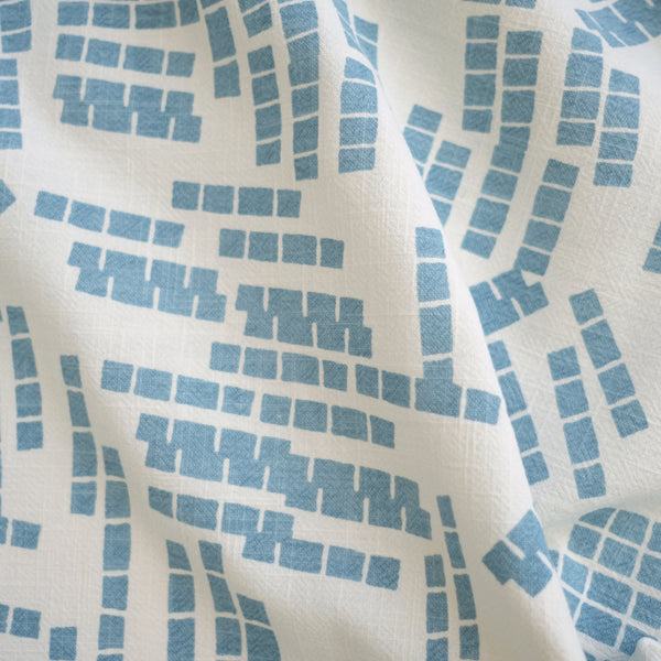 TILES in SKY - Fabric by the yard