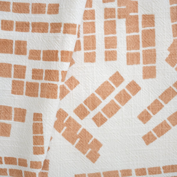 TILES in SHELL - Fabric by the yard