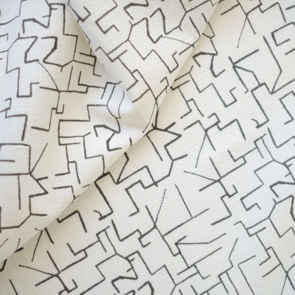 MAZE in WARM GREY - Fabric by the yard