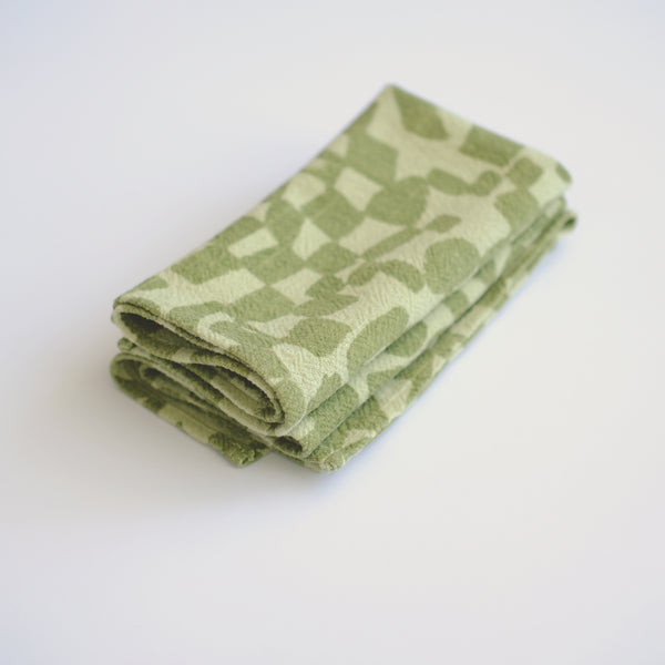 Everyday Napkins - Checks - Matcha - Pear