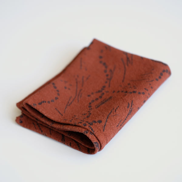 Tea Towel - Drape - Midnight- Burnt Sienna
