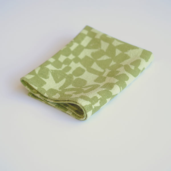 Tea Towel - Checks - Macha - Pear