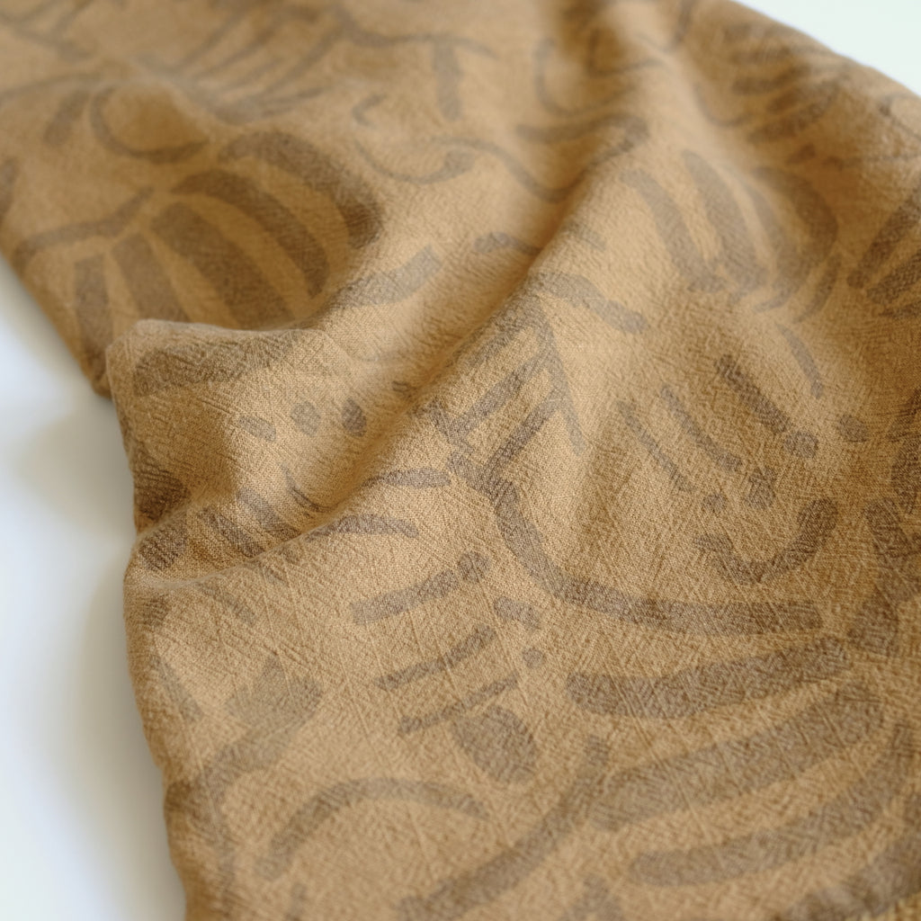 Over-dyed fabric by the yard - Fold - Clay - Camel