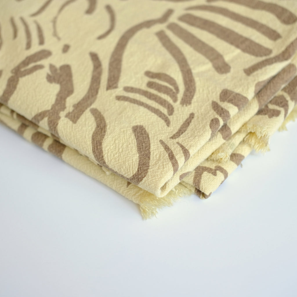 Over-dyed fabric by the yard - Fold - Clay - Butterscotch