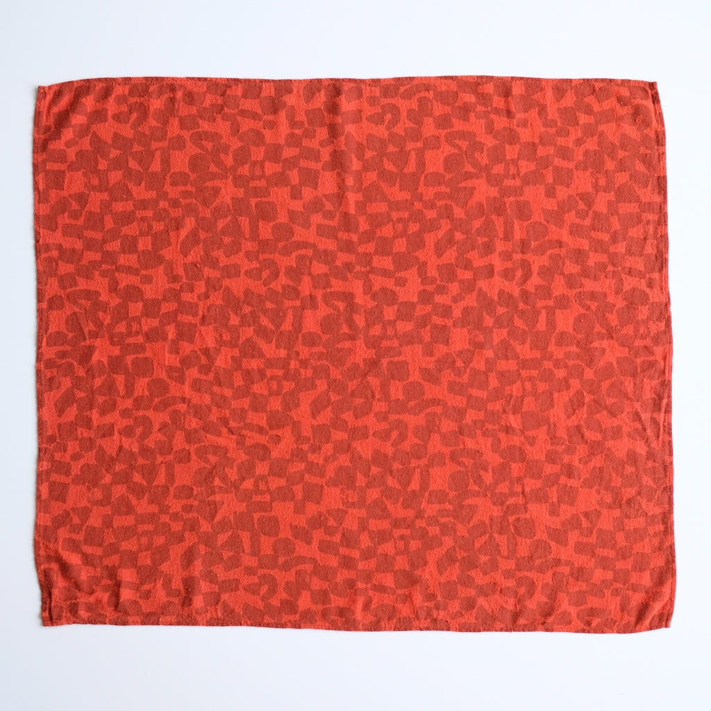 Over-dyed Scarf - Tomato
