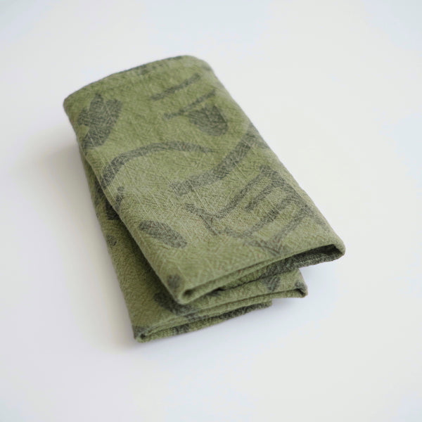 Everyday Napkins - Fold - Faded black - Grass
