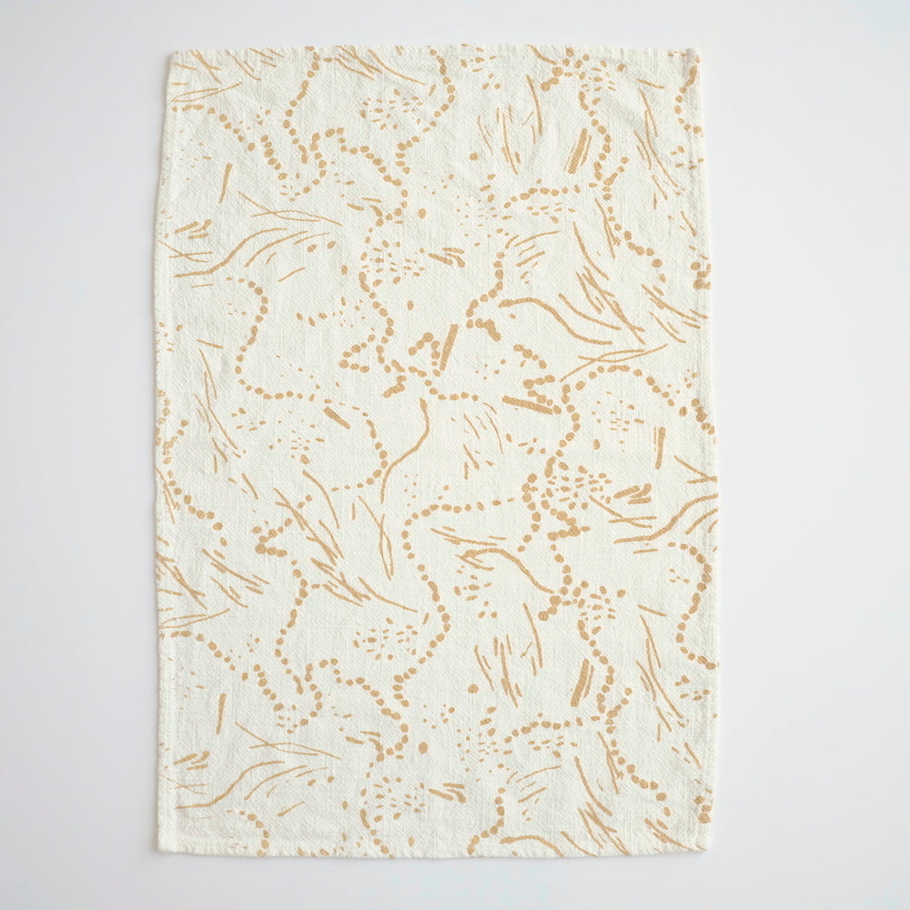 Tea Towel - Drape - Gold
