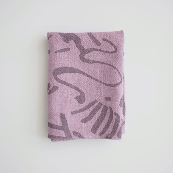 Tea Towel - Fold - Fig/plum