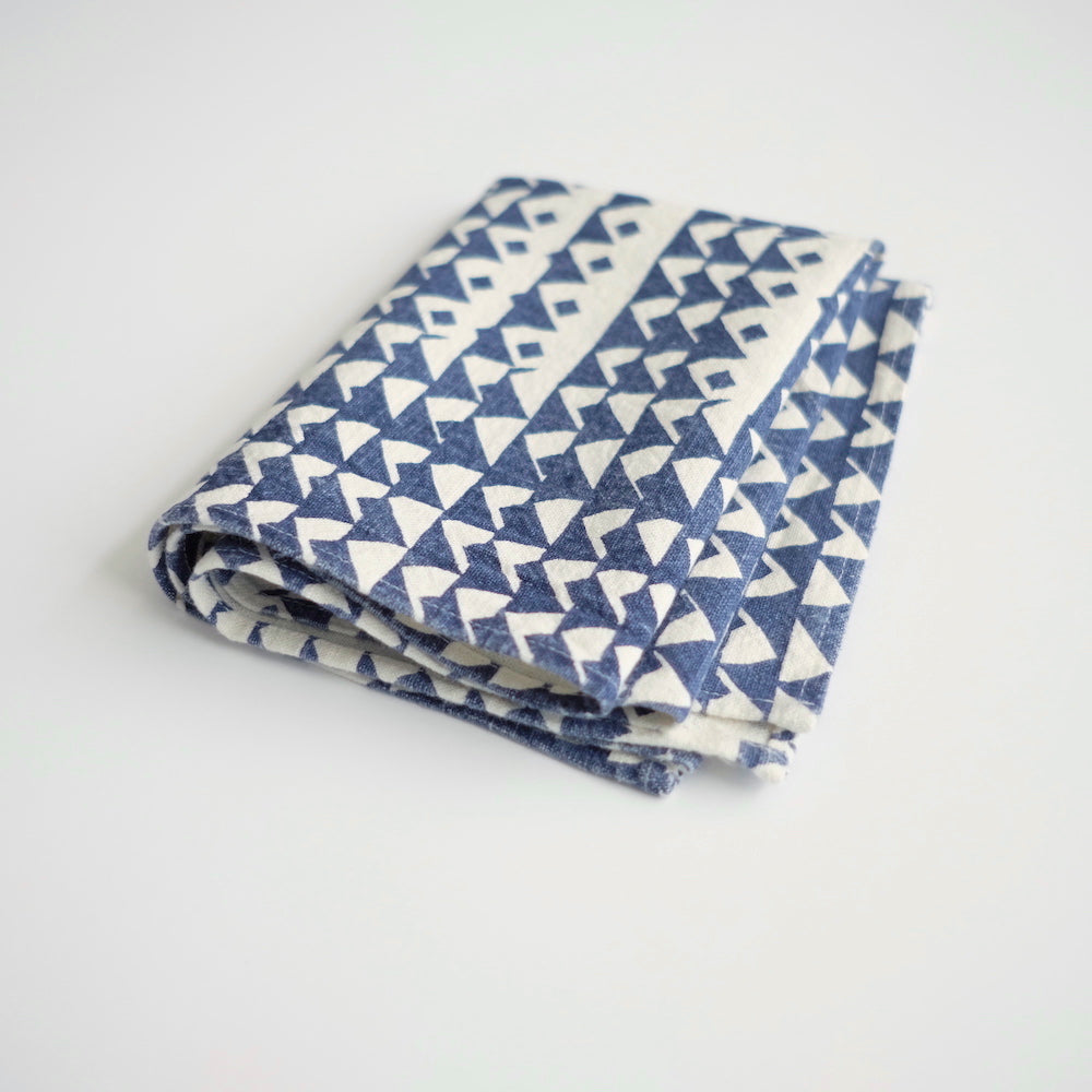 Tea Towel - Triangles - Indigo