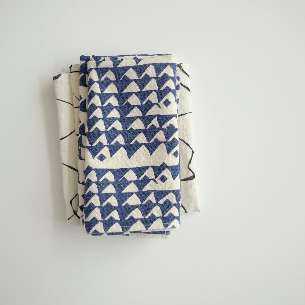 Everyday Napkins - Triangles - Indigo