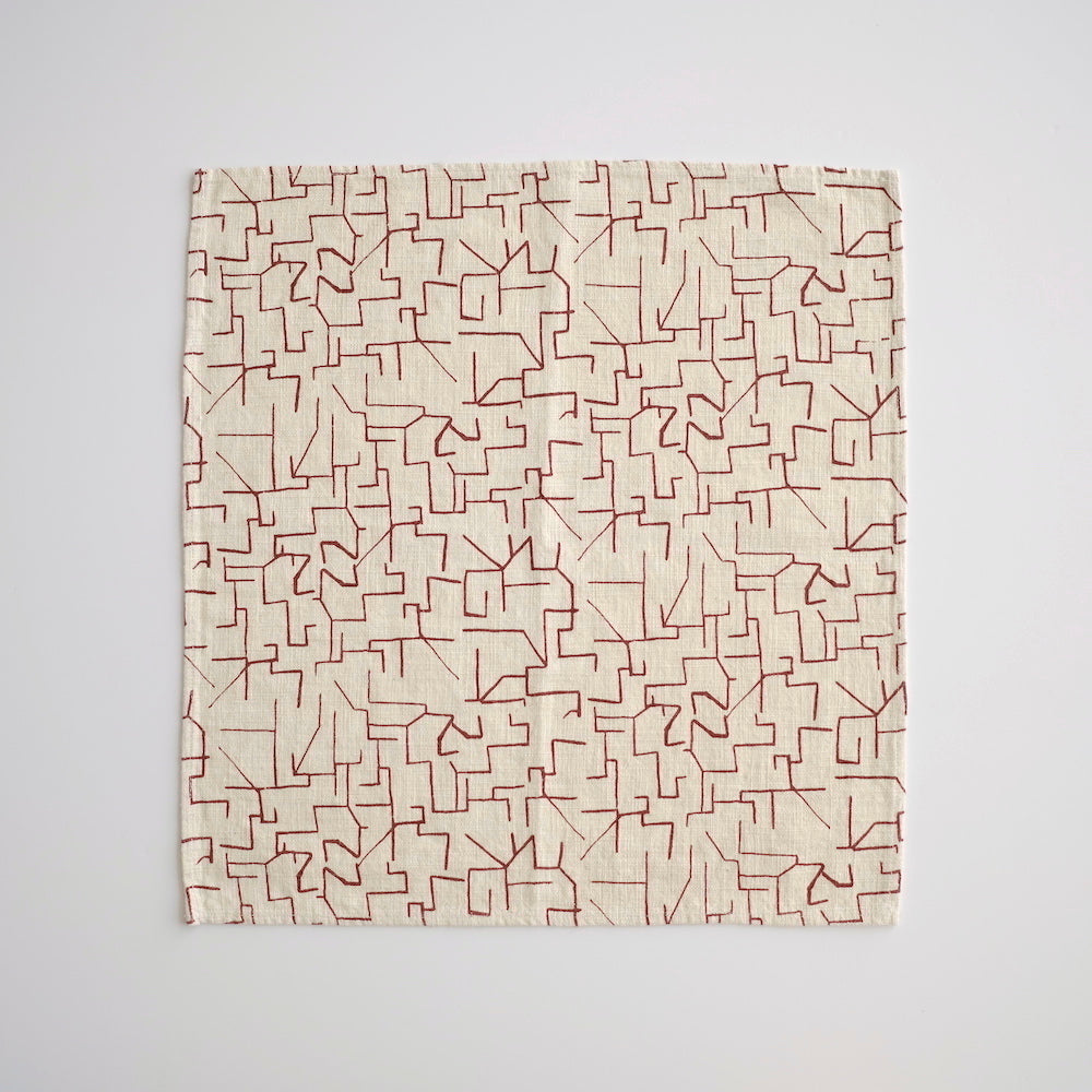 Everyday Napkins - Maze - Maroon